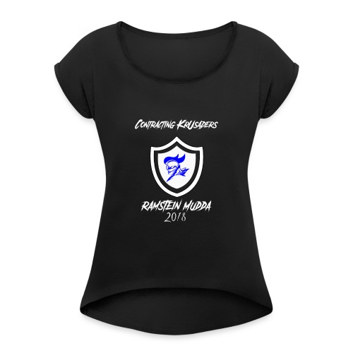 SHIRT COVER ROB FINAL 01 - Frauen T-Shirt mit gerollten Ärmeln