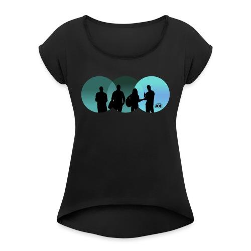 Motiv Cheerio Joe blue - Frauen T-Shirt mit gerollten Ärmeln