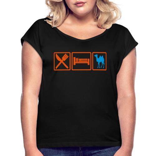 eatsex chameau2 - T-shirt à manches retroussées Femme
