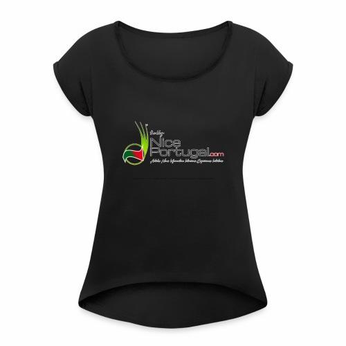 NicePortugal.com Logo - Maglietta da donna con risvolti