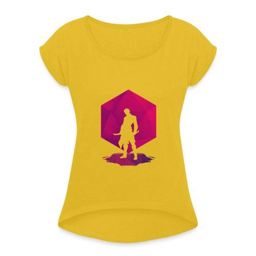 Varjo-salamurhaaja - Dungeons and Dragons d20 - Naisten T-paita, jossa rullatut hihat