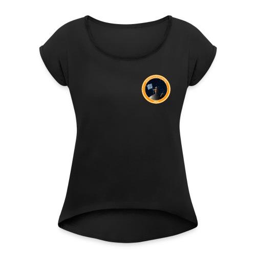 Logo stranded legends - Frauen T-Shirt mit gerollten Ärmeln