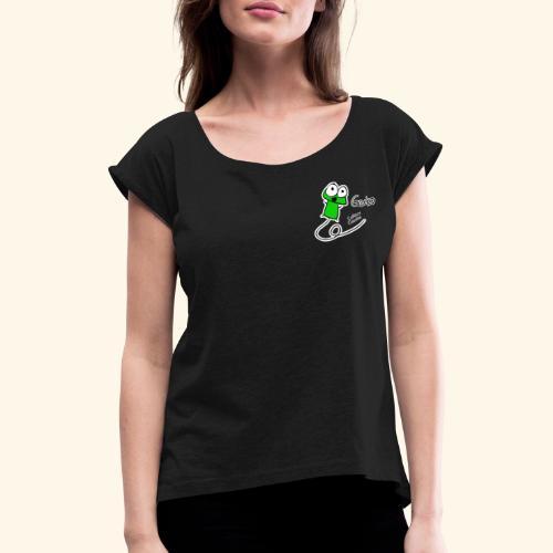 Gecko! - Frauen T-Shirt mit gerollten Ärmeln
