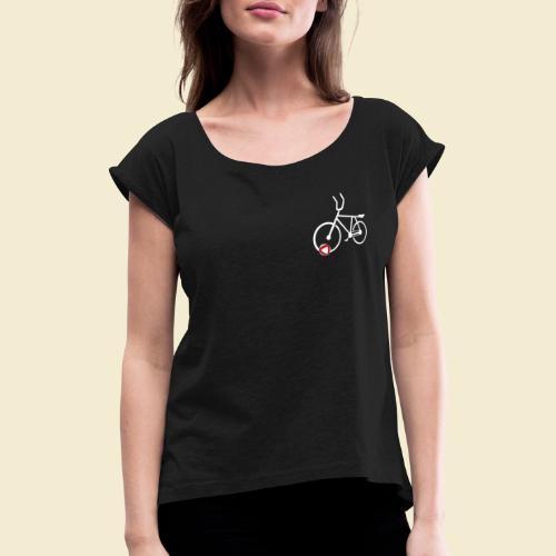 Radball | Cycle Ball Polo white - Frauen T-Shirt mit gerollten Ärmeln