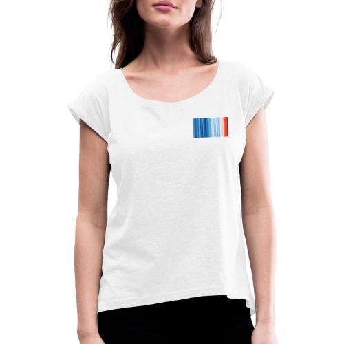 Klimawandel - Frauen T-Shirt mit gerollten Ärmeln