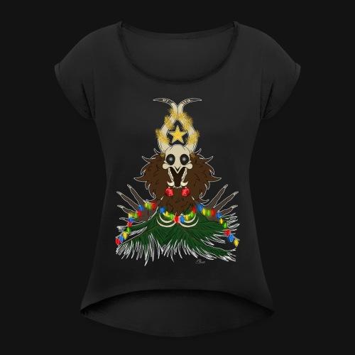 Créature de noël - T-shirt à manches retroussées Femme