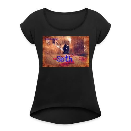 versuchblut1 phixrfb jpg - Frauen T-Shirt mit gerollten Ärmeln