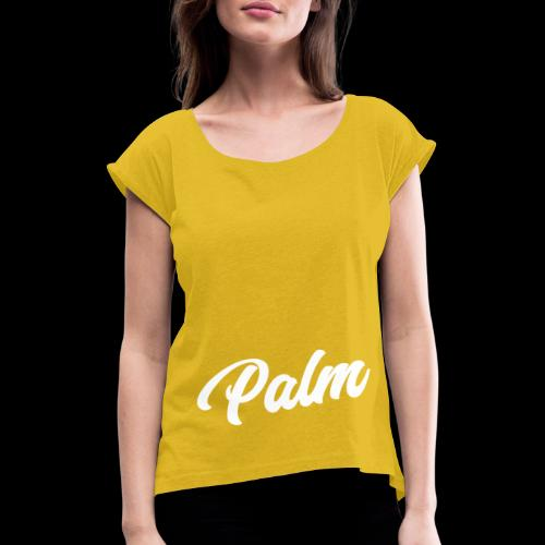 Palm Exclusive White - Dame T-shirt med rulleærmer