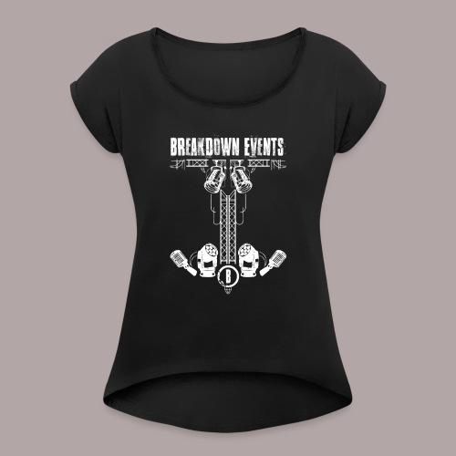 Breakdown Anker Motiv - Frauen T-Shirt mit gerollten Ärmeln