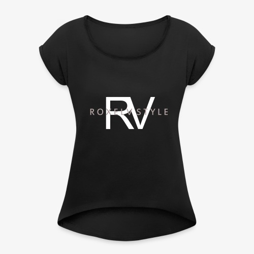 RV - T-skjorte med rulleermer for kvinner
