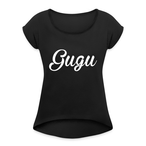 Gugu - Camiseta con manga enrollada mujer