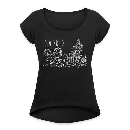 CIBELES BLANCO - Camiseta con manga enrollada mujer