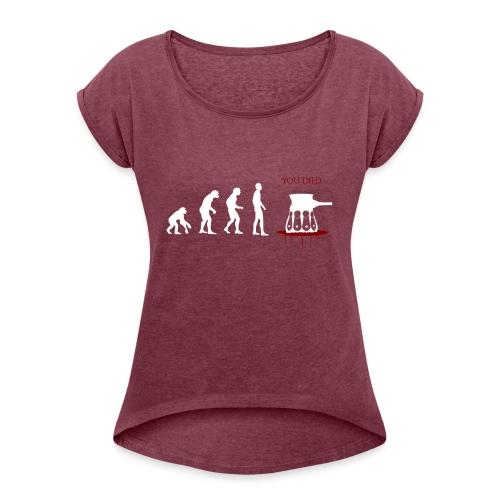 Evoluti...Ops - Maglietta da donna con risvolti