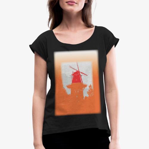 Mills orange - Maglietta da donna con risvolti