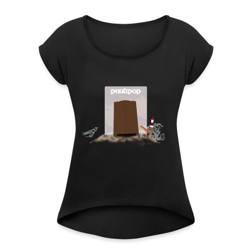 Dark Close PunkPop - Maglietta da donna con risvolti