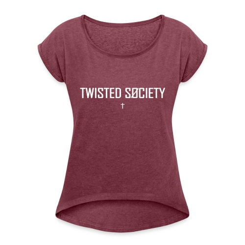 Logo white - Women's T-Shirt with rolled up sleeves
