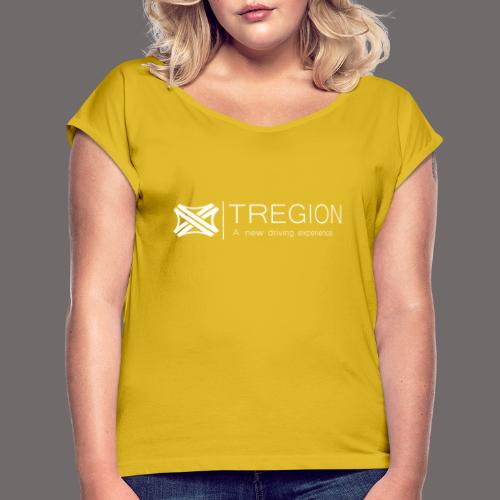 Tregion Logo wide - Women's T-Shirt with rolled up sleeves