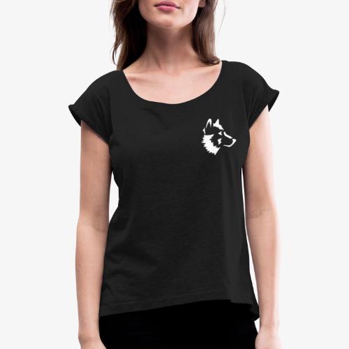 Hosky - Vrouwen T-shirt met opgerolde mouwen
