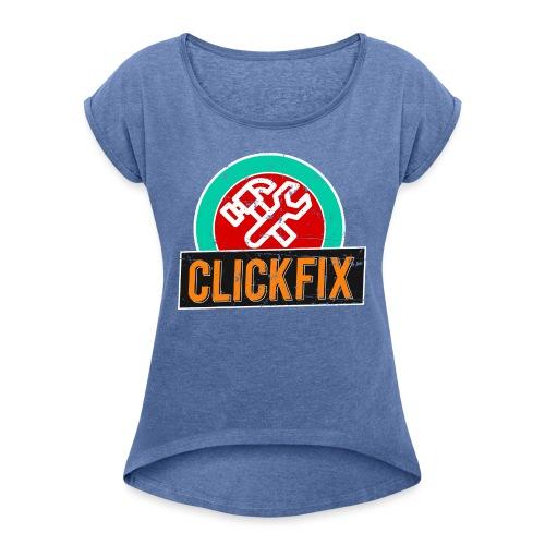 Clickfix Vintage - Dame T-shirt med rulleærmer