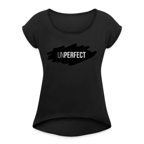 UNPERFECT LOGO 2 - Frauen T-Shirt mit gerollten Ärmeln