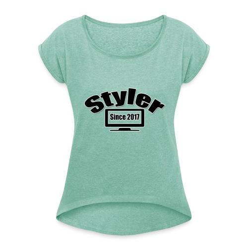 Styler Design T-Shirt Vrouwen - Vrouwen T-shirt met opgerolde mouwen