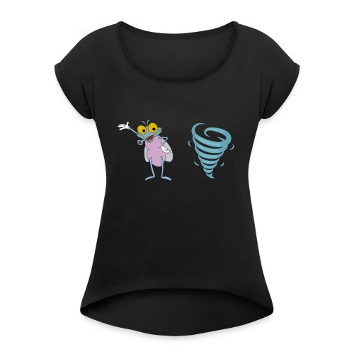 MuggenSturm - Shirt 02 - Frauen T-Shirt mit gerollten Ärmeln
