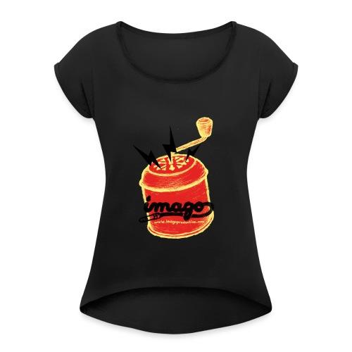 imago detoure copie png - T-shirt à manches retroussées Femme