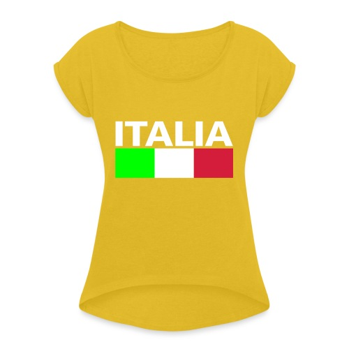 Italia Italy flag - Women's T-Shirt with rolled up sleeves