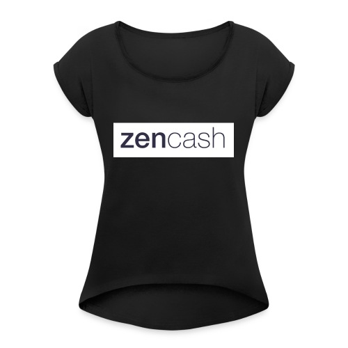 ZenCash CMYK_Horiz - Full - Women's T-Shirt with rolled up sleeves