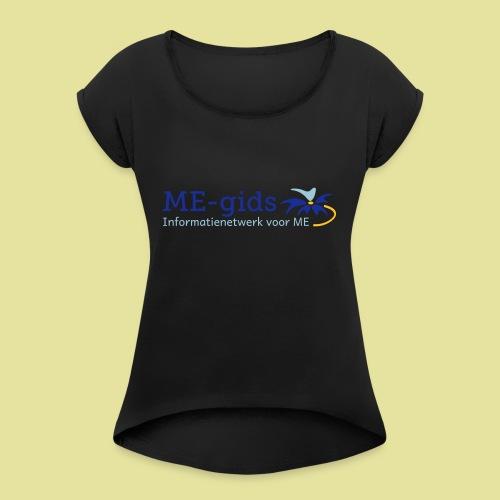 logomegids - Vrouwen T-shirt met opgerolde mouwen