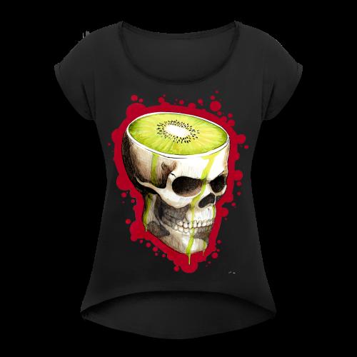 Czacha Kiwi - Koszulka damska z lekko podwiniętymi rękawami