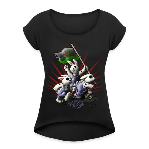Revolution - Frauen T-Shirt mit gerollten Ärmeln