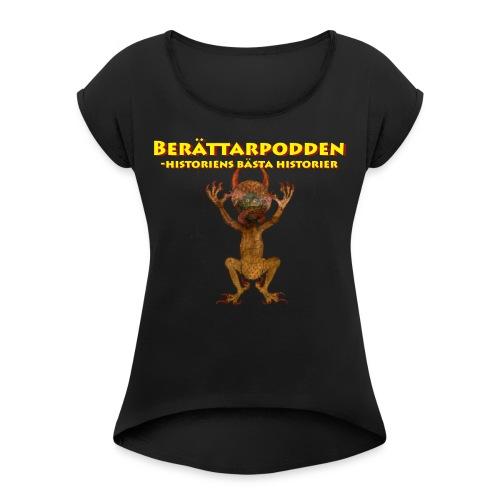Berättarpodden - T-shirt med upprullade ärmar dam