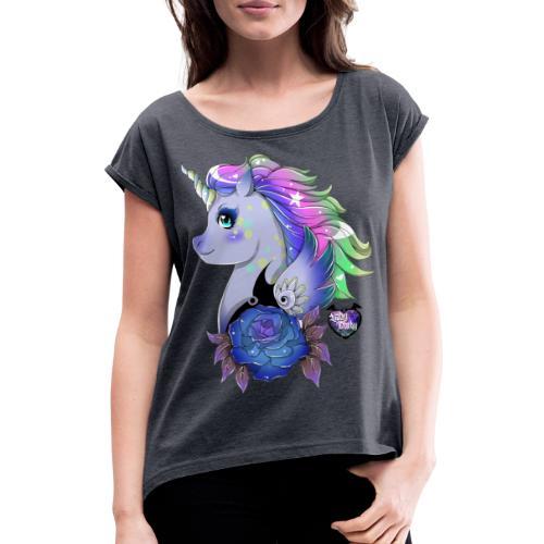 Licorne Kawaii 2 - T-shirt à manches retroussées Femme