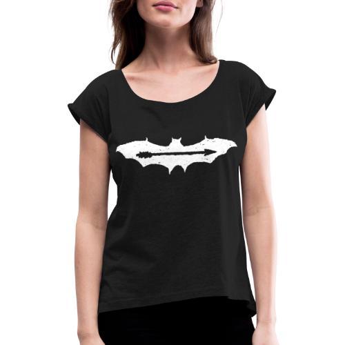 AjuxxTRANSPAkyropteriyaBlackSeriesslHotDesigns.fw - Women's T-Shirt with rolled up sleeves