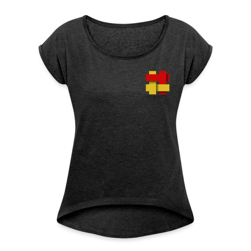 The Kilted Coaches LOGO - Women's T-Shirt with rolled up sleeves
