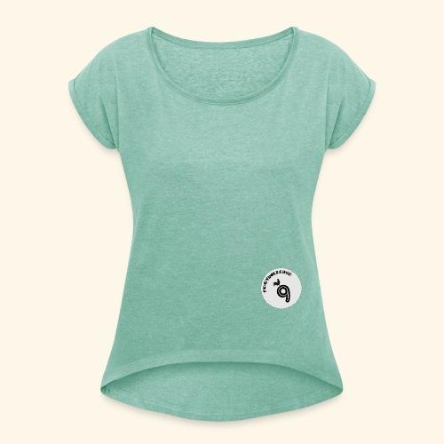 Footballeuse - T-shirt à manches retroussées Femme