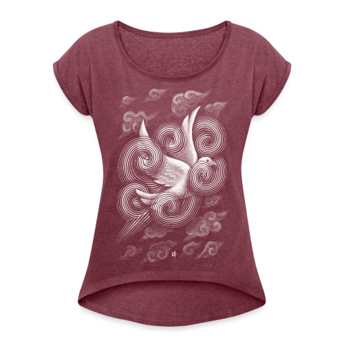 Crossing Clouds - Women's T-Shirt with rolled up sleeves