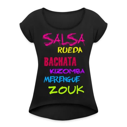 Schlagwörter - Frauen T-Shirt mit gerollten Ärmeln