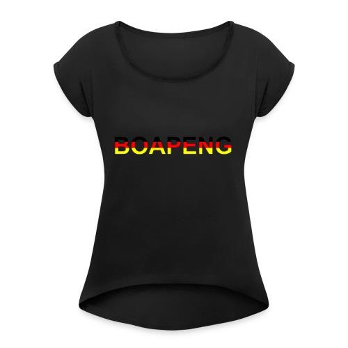 Boapeng - Frauen T-Shirt mit gerollten Ärmeln