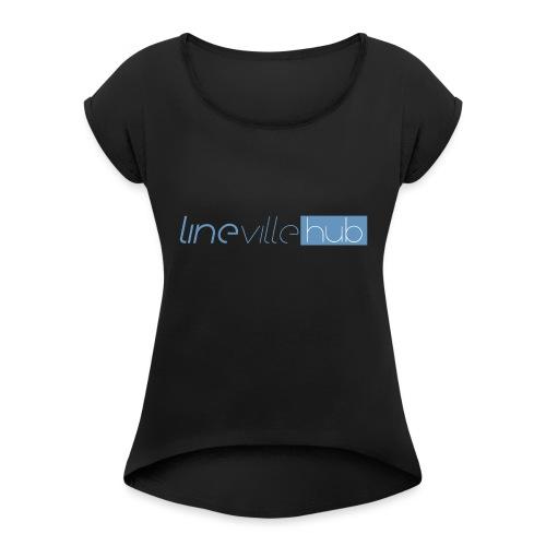 LINEVILLEHUB - Maglietta da donna con risvolti