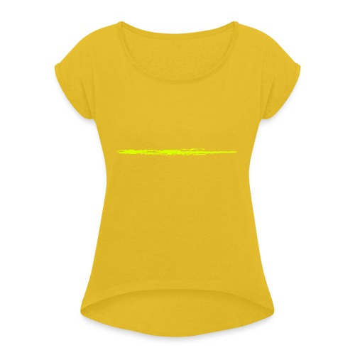 Linie_01 - Frauen T-Shirt mit gerollten Ärmeln