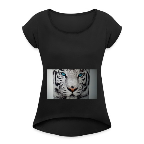 Tiger merch - Women's T-Shirt with rolled up sleeves