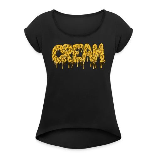 CREAM - Frauen T-Shirt mit gerollten Ärmeln