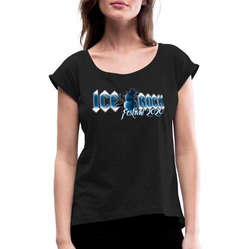 Festival Design 2020 - Frauen T-Shirt mit gerollten Ärmeln