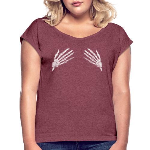 Trupie łapy klatka piersiowa - Dla Kobiet - Koszulka damska z lekko podwiniętymi rękawami