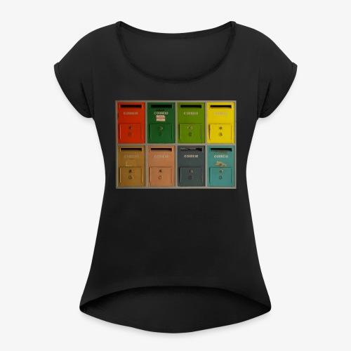 Briefkasten - Frauen T-Shirt mit gerollten Ärmeln