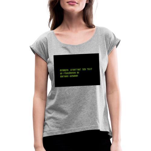 Logga Fo retaget sto rre - T-shirt med upprullade ärmar dam