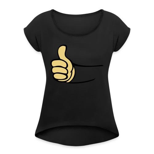 Vault - Vrouwen T-shirt met opgerolde mouwen