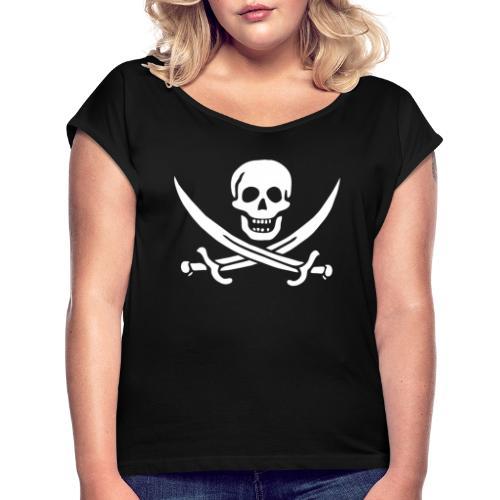 Jack Rackham Flag - T-shirt à manches retroussées Femme